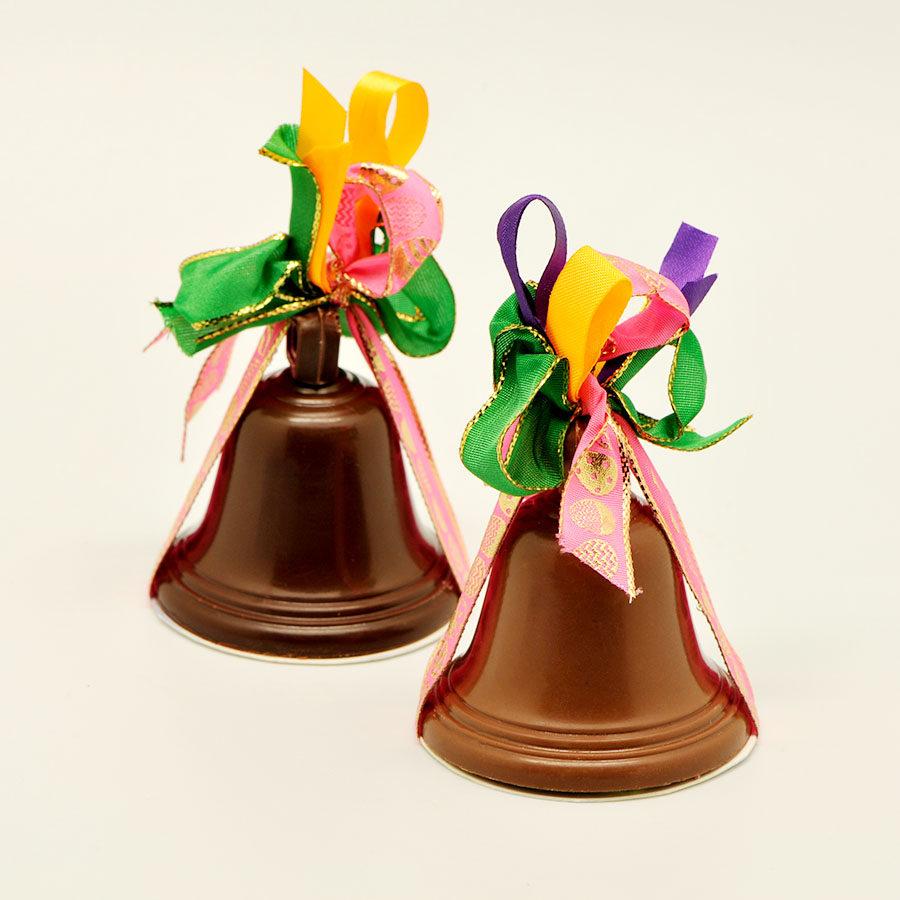 Cloche chocolat garnie p que 40g chocolaterie pelen - Cloches de paques ...